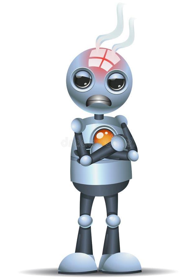 liten robot som ?r ilsken i ett d?ligt lynne stock illustrationer