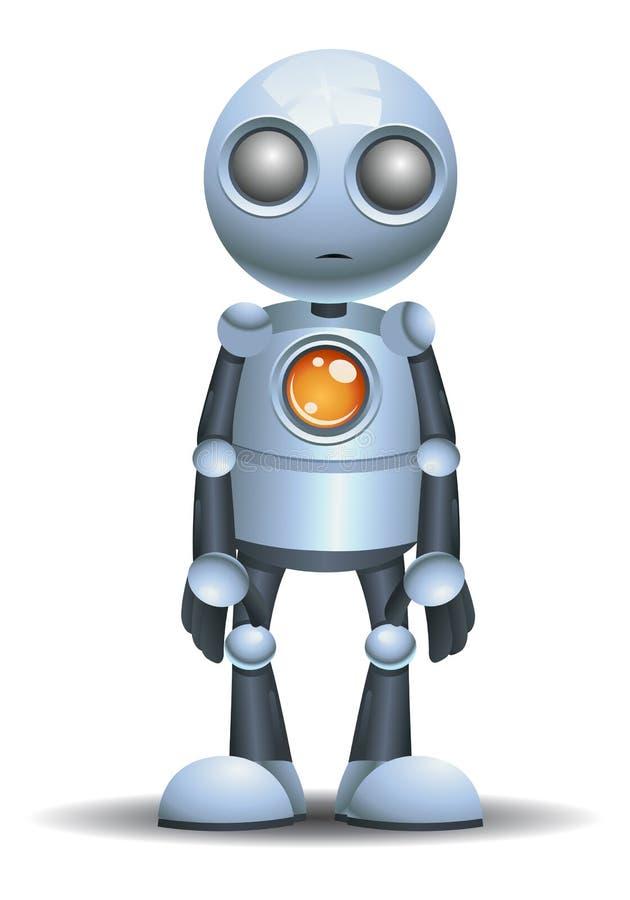 liten robot som ?r tom mening royaltyfri illustrationer