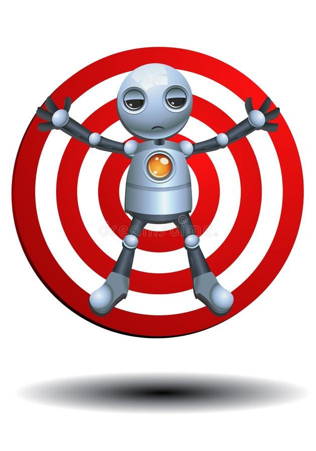 Liten robot som ett mål stock illustrationer