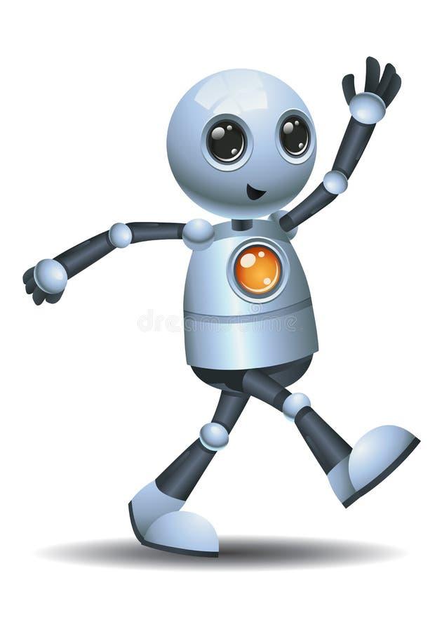 liten robot som lämnar från rummet royaltyfri illustrationer