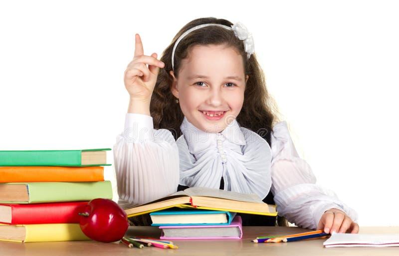 liten schoolgirl royaltyfri fotografi