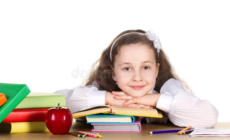 liten schoolgirl royaltyfri foto
