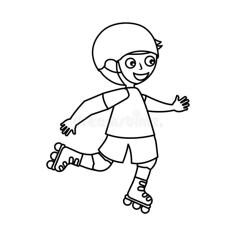 Liten skateboradåkareavatarsymbol royaltyfri illustrationer