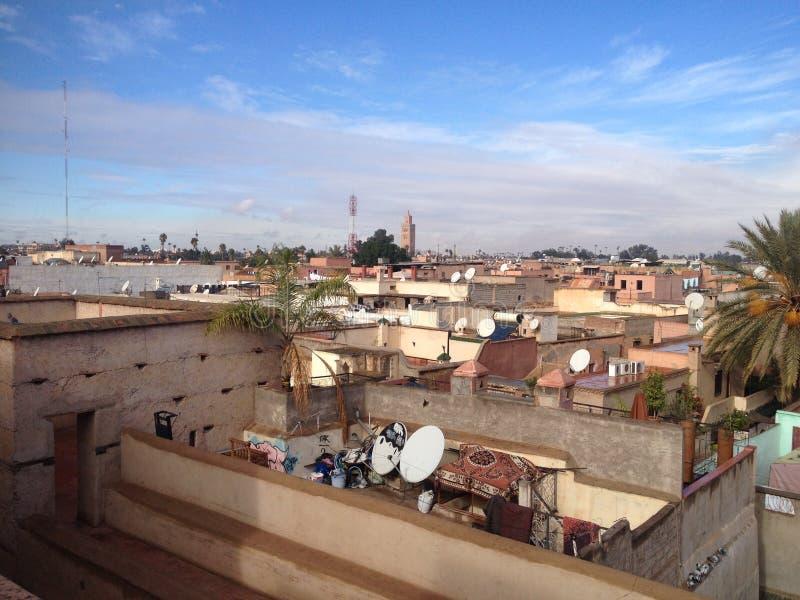 Liten stad Marrakesh fotografering för bildbyråer