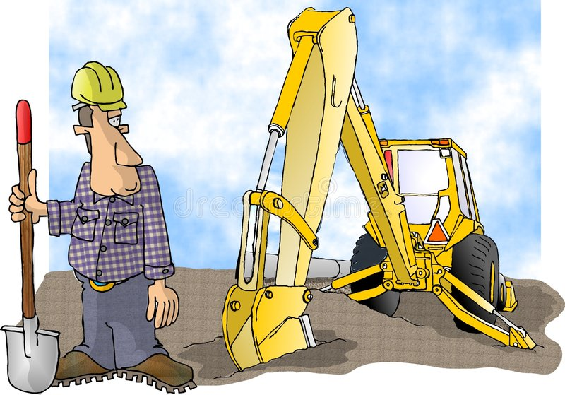Download Liten stor skyffel stock illustrationer. Bild av komiker - 47921