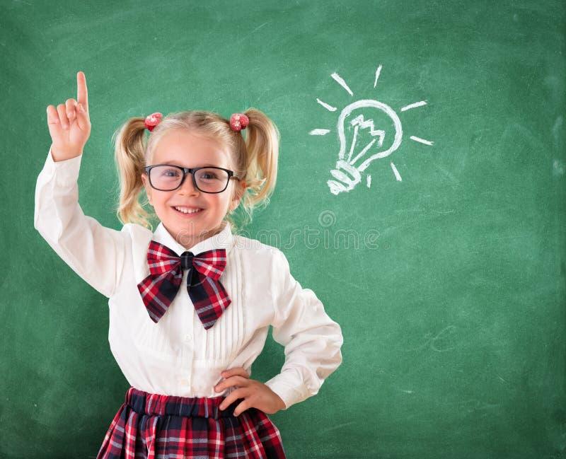 Liten student With Idea arkivbilder