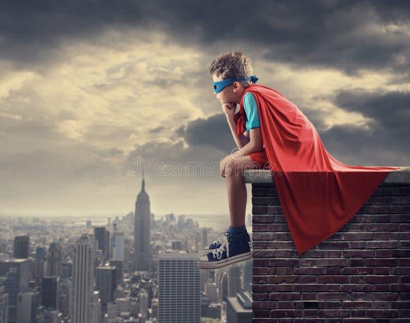 Liten Superhero royaltyfria bilder