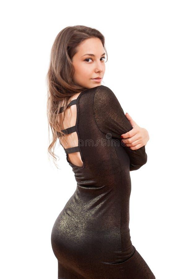 Liten svart klänning. royaltyfria foton