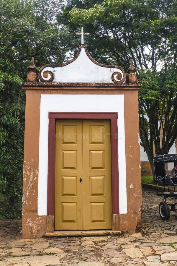 Liten Tiradentes kyrka fotografering för bildbyråer
