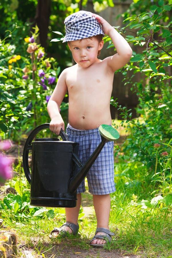 Liten trädgårdsmästare royaltyfria foton