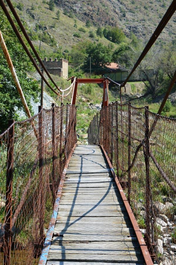 Liten trådbro fotografering för bildbyråer
