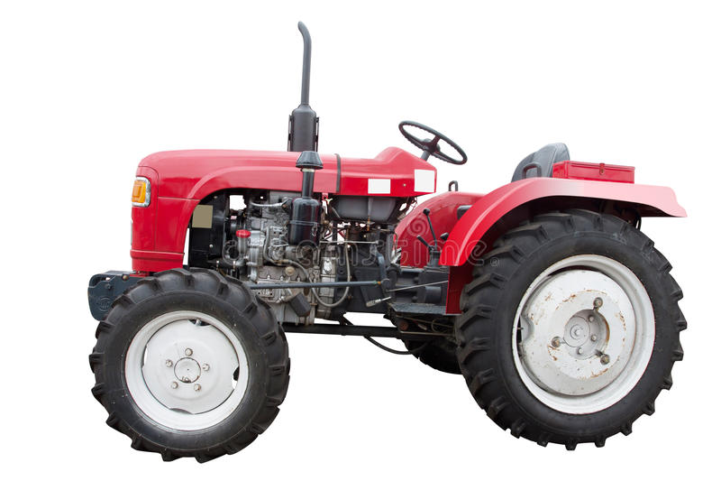 liten traktor arkivfoto
