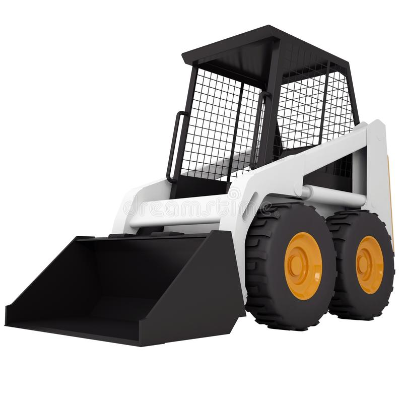 Liten traktor royaltyfri illustrationer