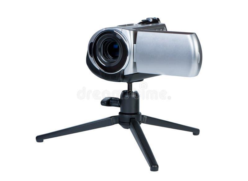 liten tripod för camcorder fotografering för bildbyråer