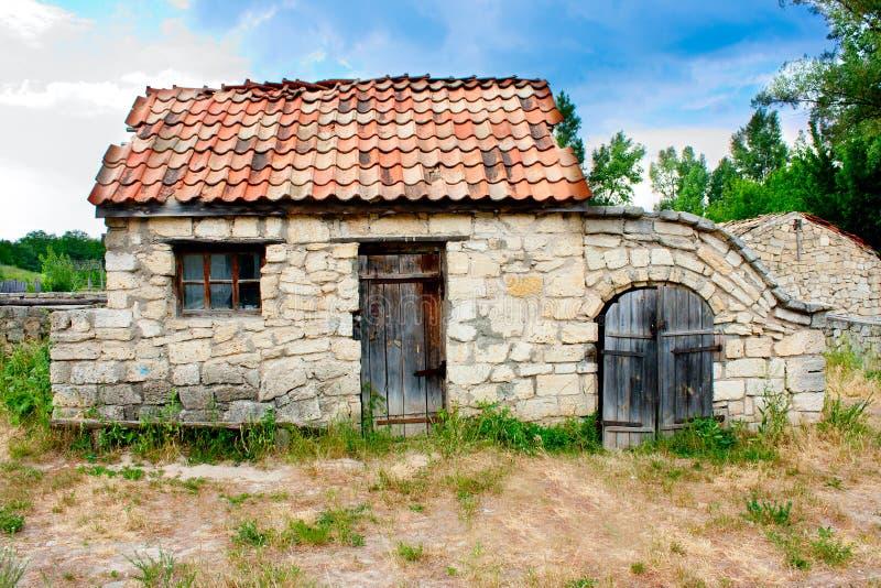 liten ukrainare för historiskt hus royaltyfria bilder
