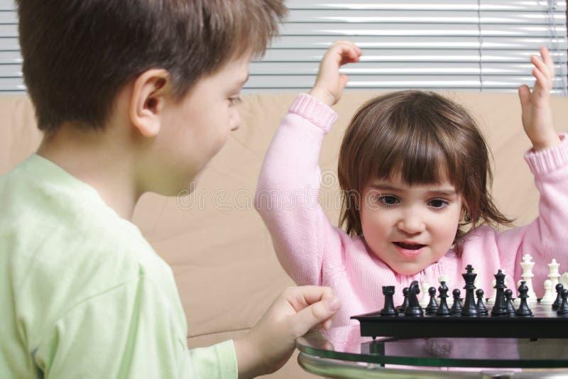 liten vinnare för schack royaltyfria bilder