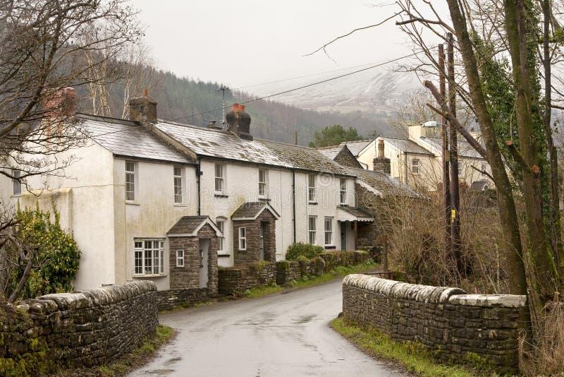 Liten walesisk by arkivbilder
