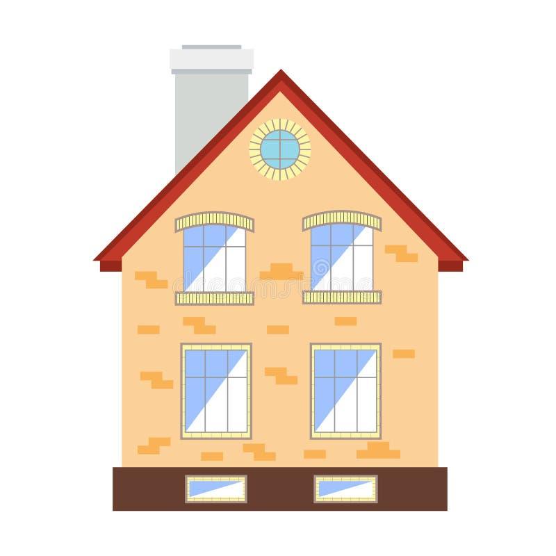 liten white för bakgrundshus stock illustrationer