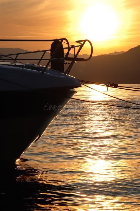liten yacht för prow royaltyfri foto