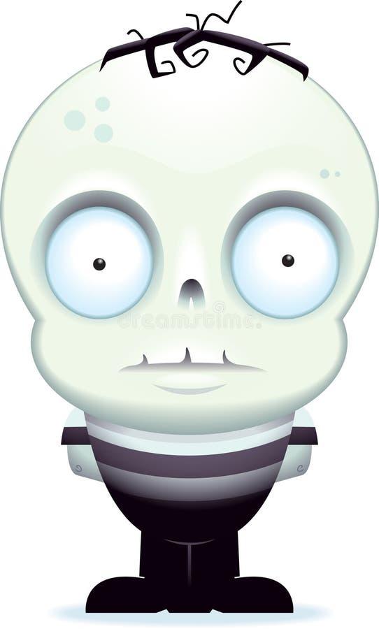 liten zombie royaltyfri illustrationer