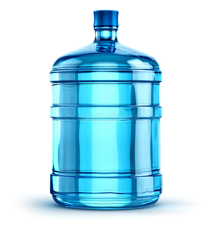 19 liter of 5 gallon plastic drinkt waterfles stock illustratie