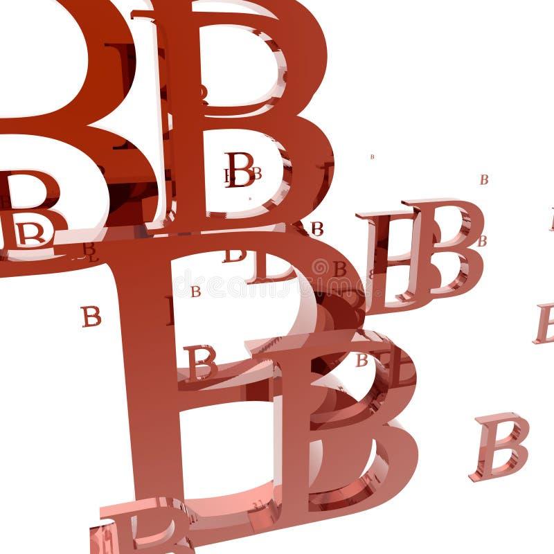 litera b ilustracja wektor