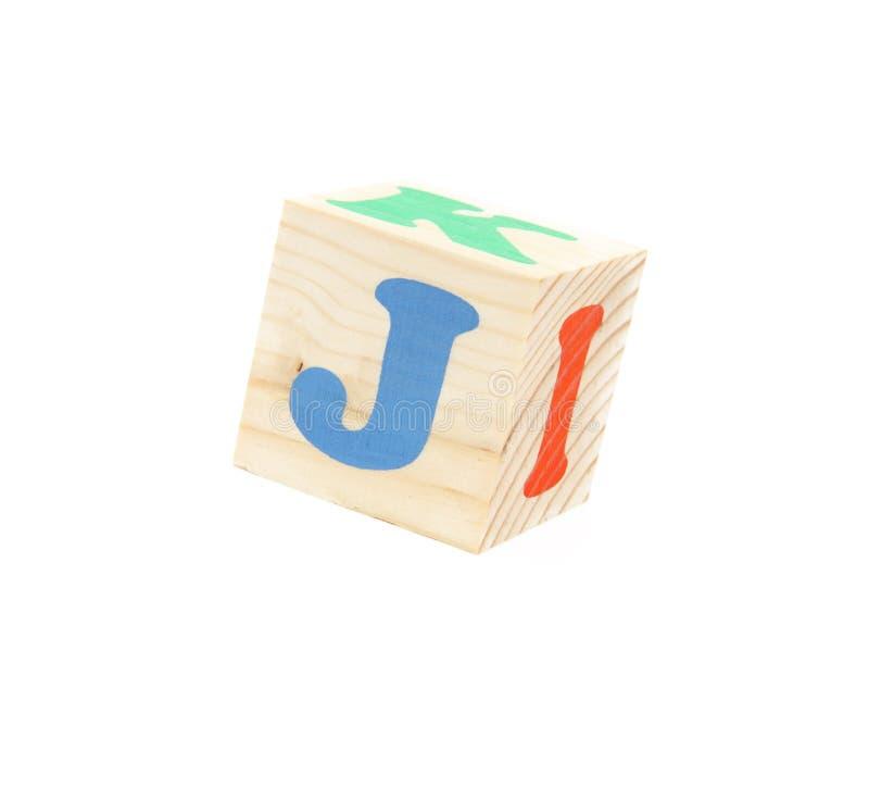 litera j. zdjęcie stock