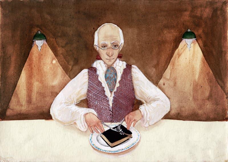 Literary gourmet vector illustration