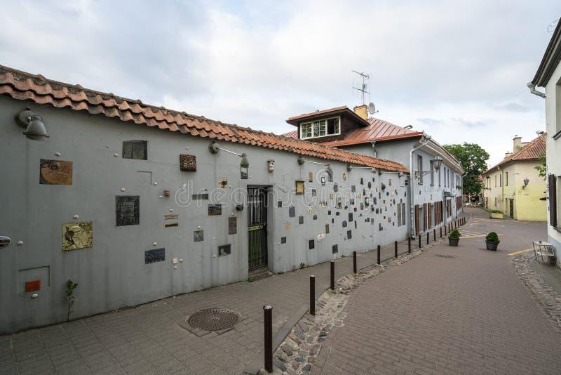 Literatai gata i Vilnius arkivbilder