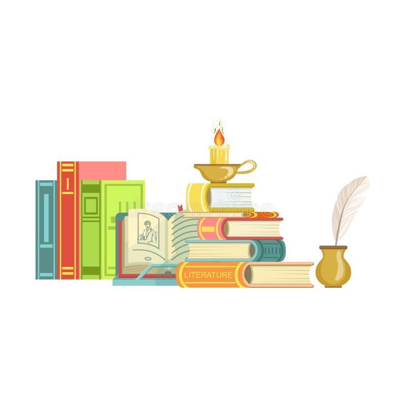 Literatur-Klassen-Satz Gegenstände vektor abbildung