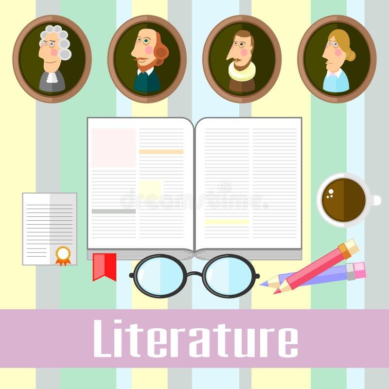 literatura ilustração royalty free