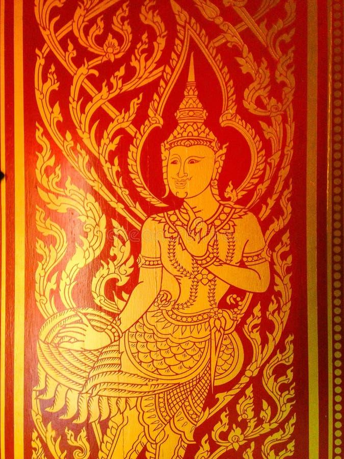 Literatura tailandesa del arte imagenes de archivo