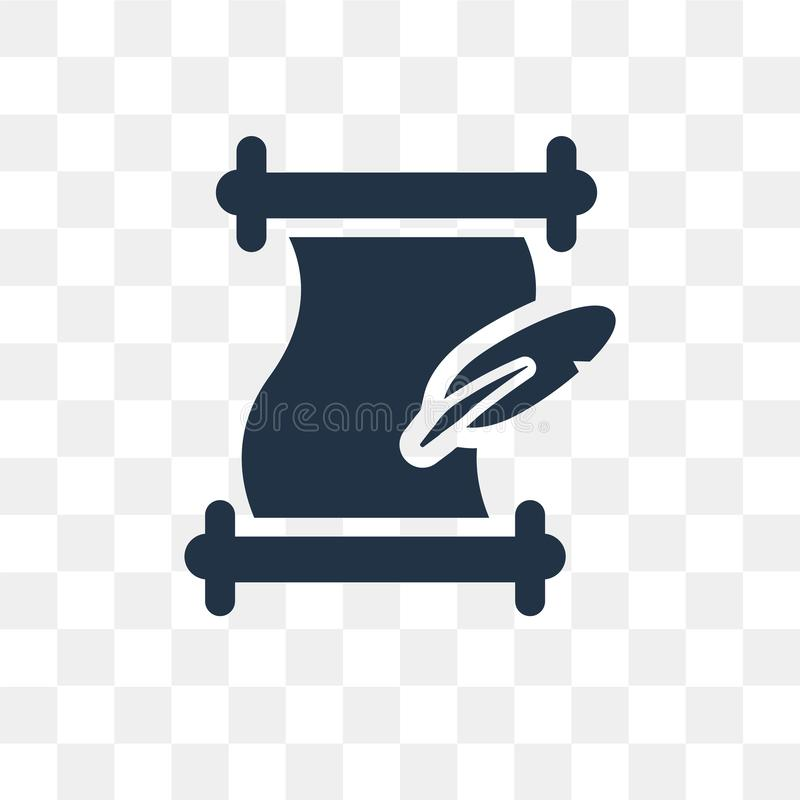 Literature vector icon isolated on transparent background, Liter royalty free illustration