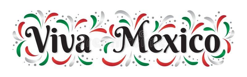 Literowania Viva Meksyk tradycyjny meksykański wakacyjny zwrot royalty ilustracja