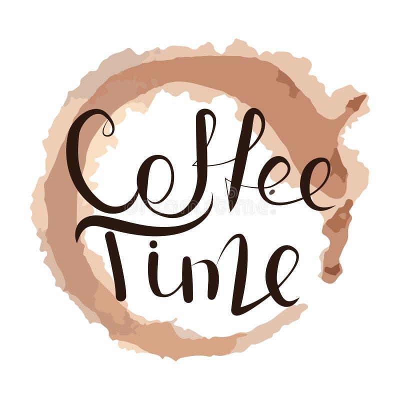 Literowanie czas dla kawy ilustracji