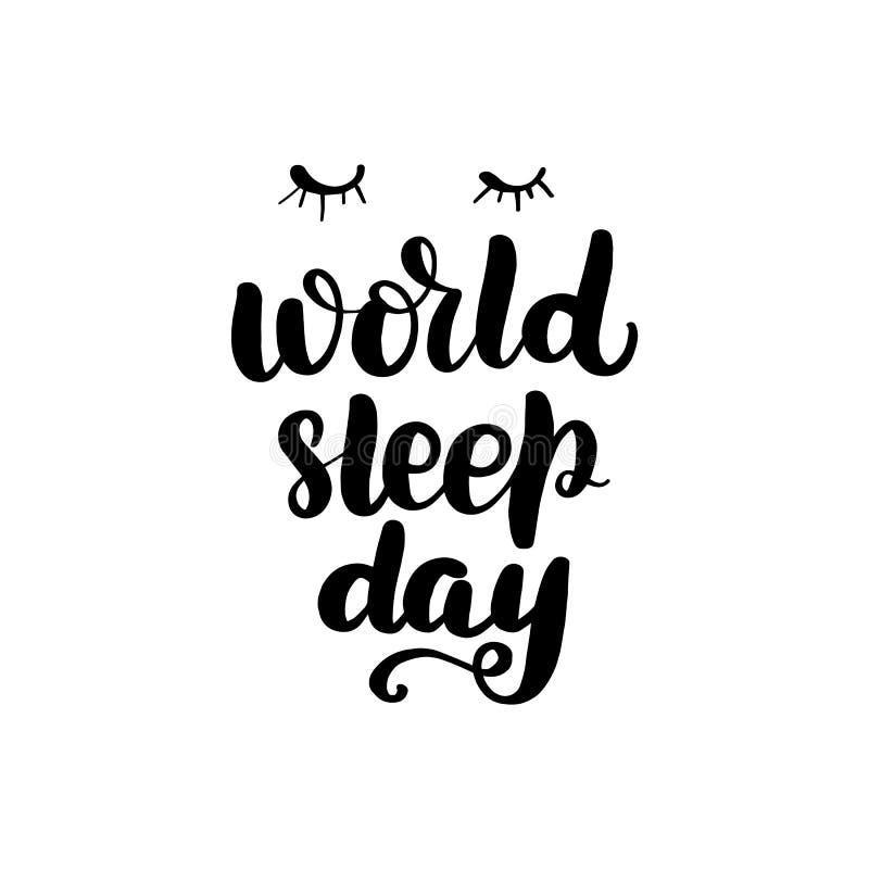 Literowanie sen światowy dzień ilustracji