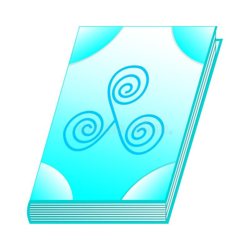 Literuje książkę lotniczy element dla Twój projekta, gra, karta Antyczna książka z alchemia przepisami, mistyczka zachwyty i czar ilustracji