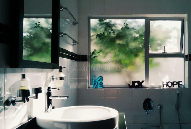 Litet badrum royaltyfri fotografi