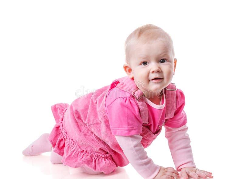 Litet barnflickakrypning arkivfoton