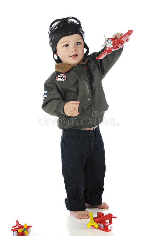 Litet barnflyg royaltyfria foton