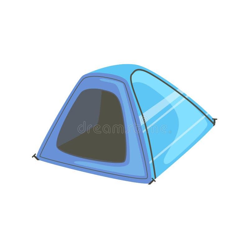 Litet blått ljust färgpresenningtält stock illustrationer