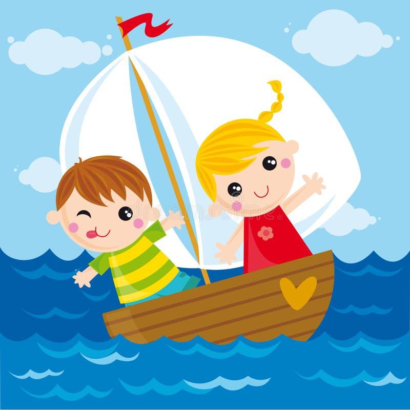 litet fartyg royaltyfri illustrationer