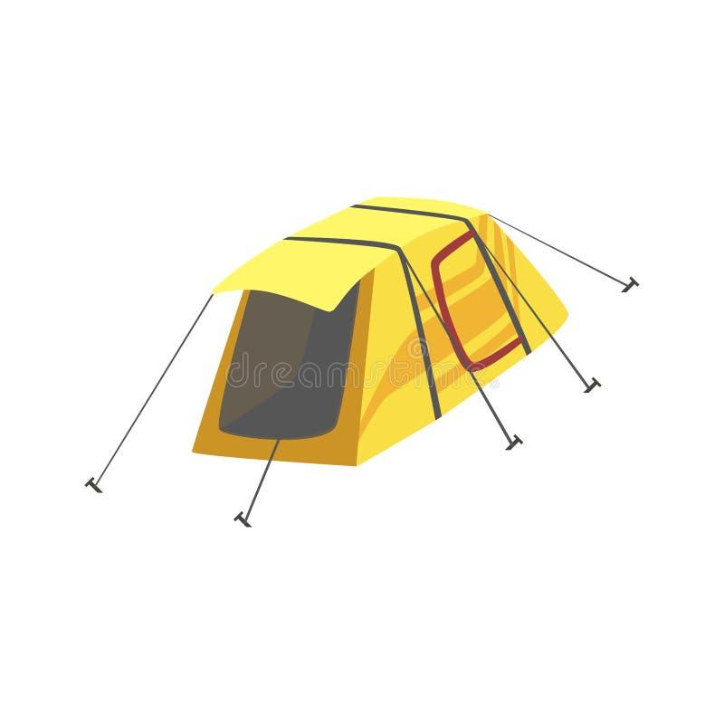 Litet gult ljust färgpresenningtält stock illustrationer