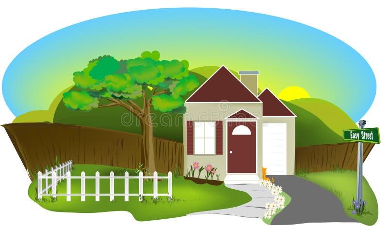 litet hus stock illustrationer