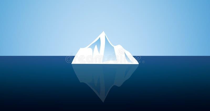 litet isberg royaltyfri illustrationer