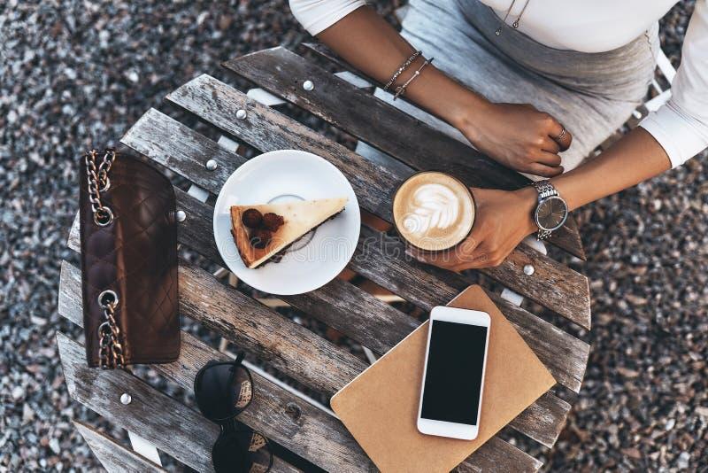 Litet kaffeavbrott arkivbilder