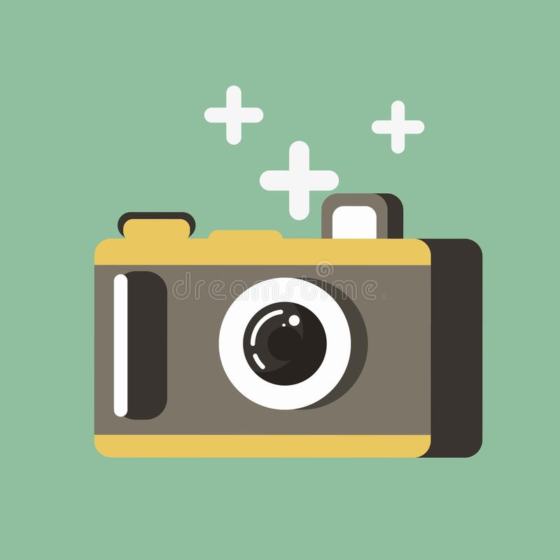 litet kamerafoto vektor illustrationer