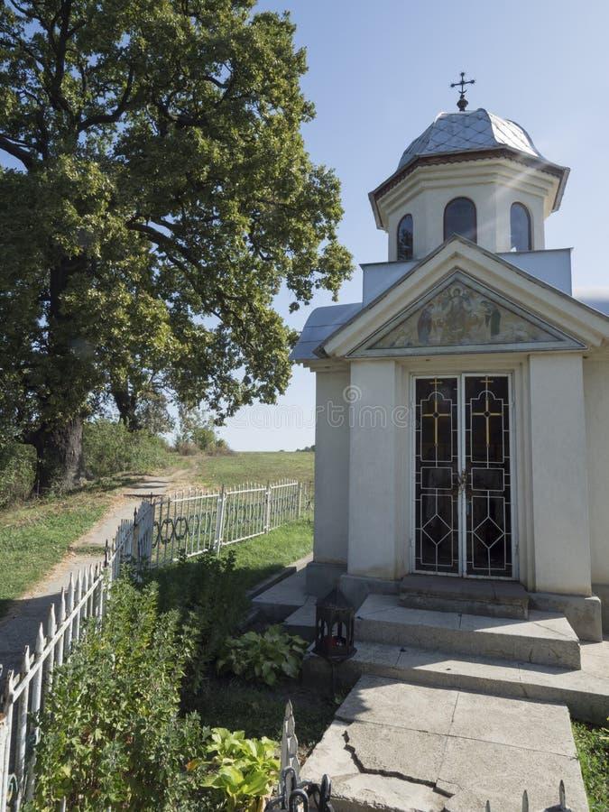 Litet kapell på den Pasarea kloster, Rumänien royaltyfria bilder