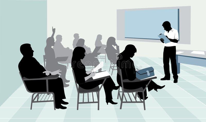 litet klassrum stock illustrationer