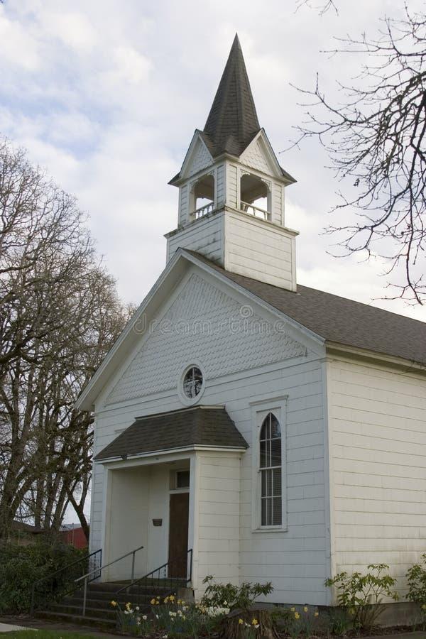 litet kyrkligt land royaltyfria foton